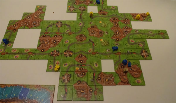 Carcassonne Goldrausch Spielsituation