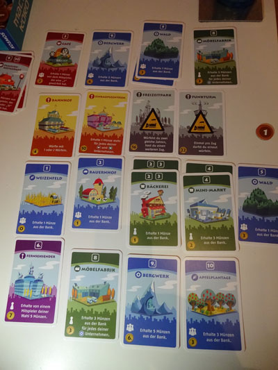 Machi Koro Spielsituation