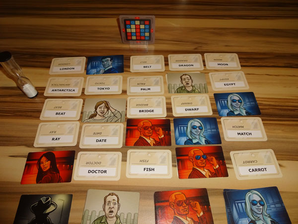 Codenames Spielsituation
