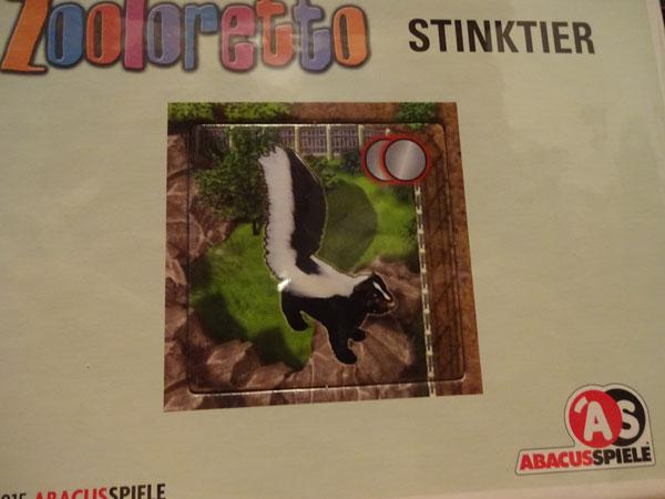 Zooloretto Stinktier / Foto: Brettspielpoesie