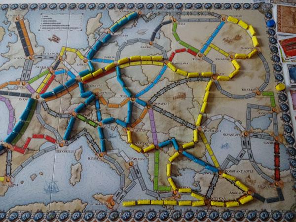 Zug um Zug: Europa Spielsituation