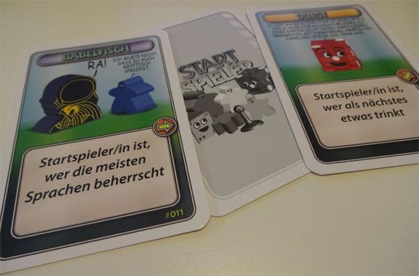 Startspieler Karten
