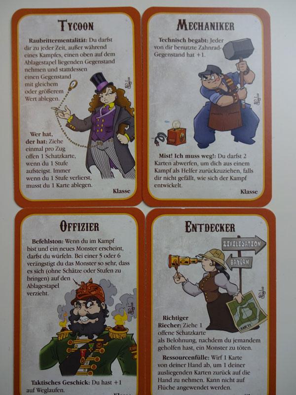 Munchkin Steampunk Klassen