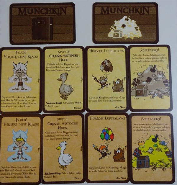 Munchkin Kartenvergleich