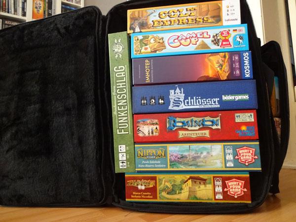 Befüllte Cajón Tasche