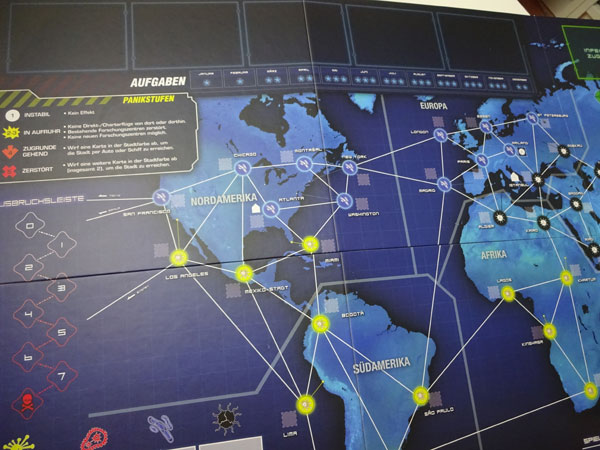 Pandemic Legacy Spielplan