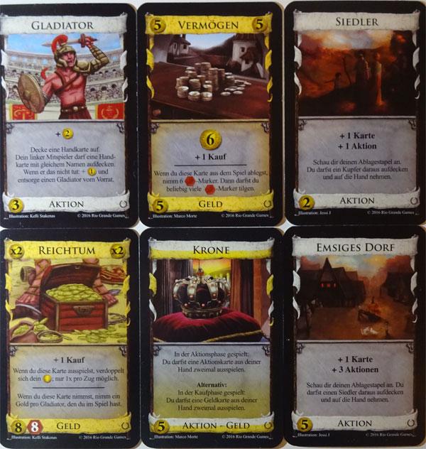 Dominion Empires Königreichkarten