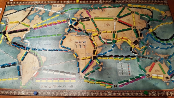 Zug um Zug Weltreise Spielplan