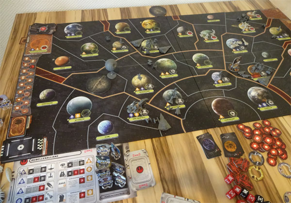 Star Wars Rebellion Spielplan