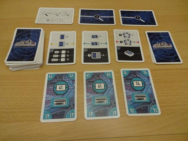 Scoland Yard - Kartenspiel Spielsituation