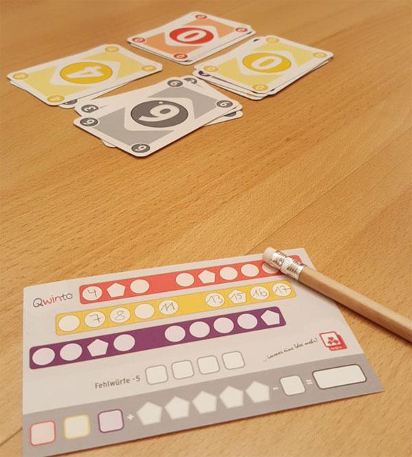 Qwinto Kartenspiel Spielsituation