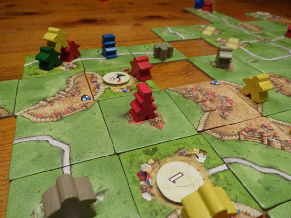 Carcassonne 10 Erw. Spielsituation