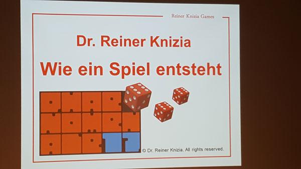 Vortrag Dr. Reiner Knizia
