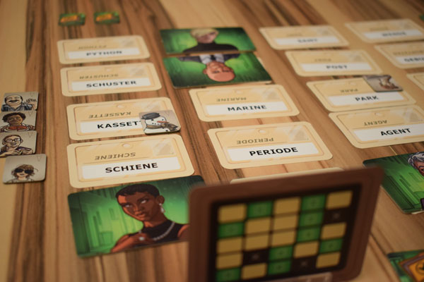 Codenames Duett Spielsituation