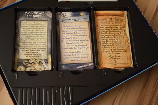Unlock Mystery Adventures Spielkarten