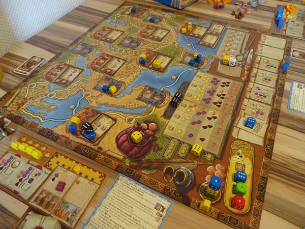 Auf den Spuren von Marco Polo Spielsituation - 2 Spieler