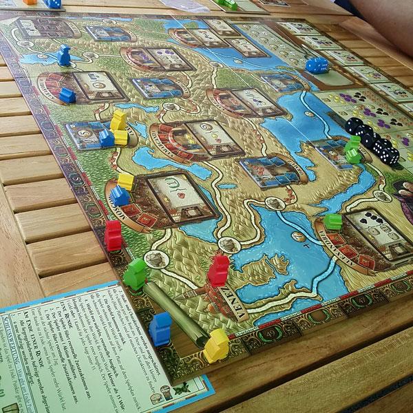 Auf den Spuren von Marco Polo Spielsituation - 4 Spieler