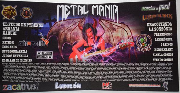 Metal Mania Spielplan Rückseite