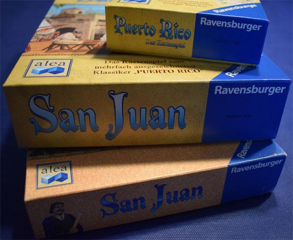 San Juan Spieleschachteln