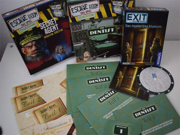 Escape Room Erweiterungen und Exit - Das mysteriöse Museum Spielmaterial