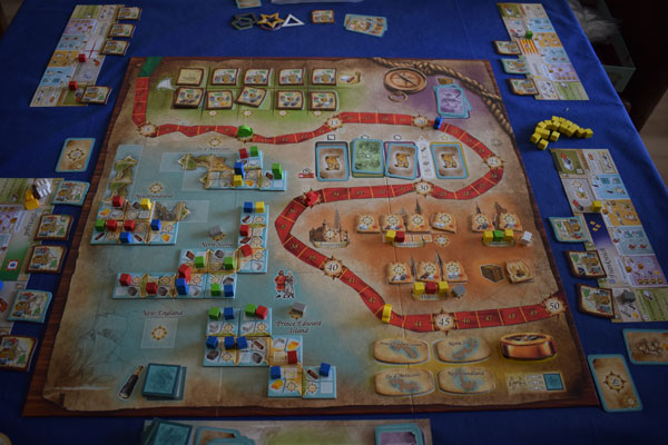 Race to the New Found Land Spielsituation