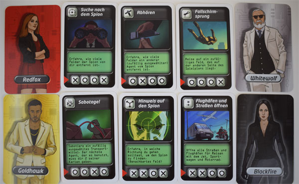 Agentenjagd Spielkarten