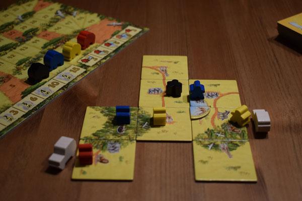Carcassonne Safari Spielmaterial