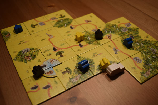 Carcassonne Safari Spielsituation