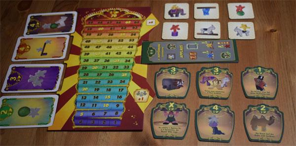 Meeple Circus Spielaufbau