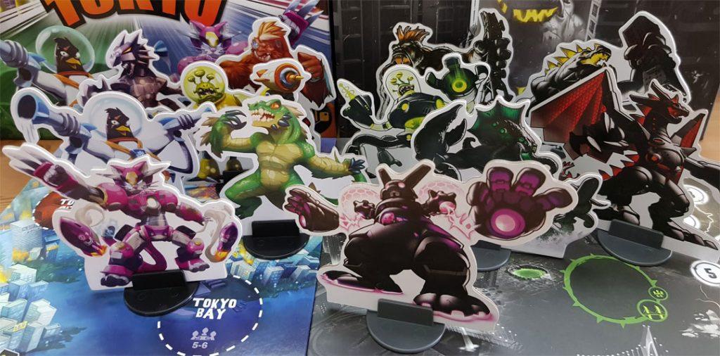 Vergleich der Monster aus der aktuellen Verion von King of Tokyo und der Dark Edition