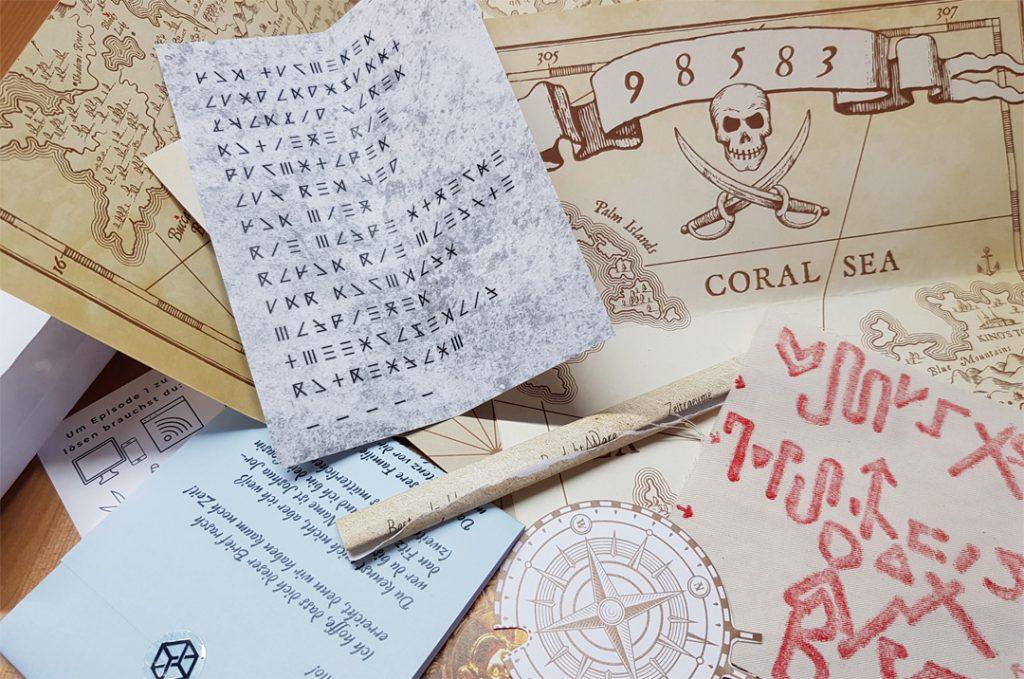 Escape Mail Spielmaterial