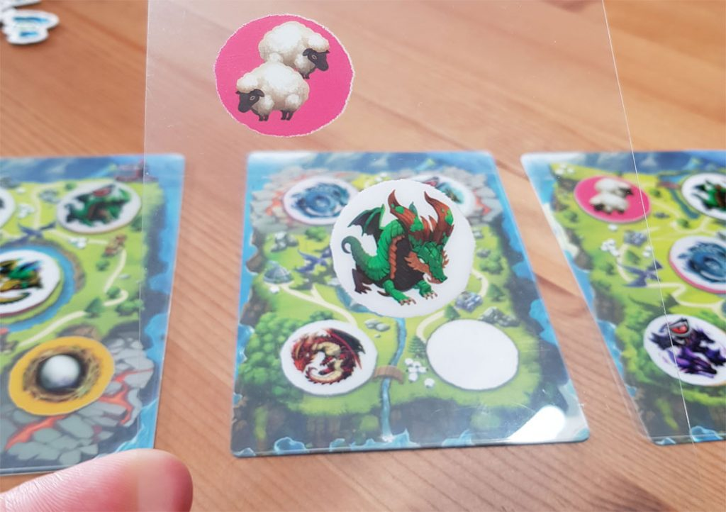Dragon Parks Kartenauswahl