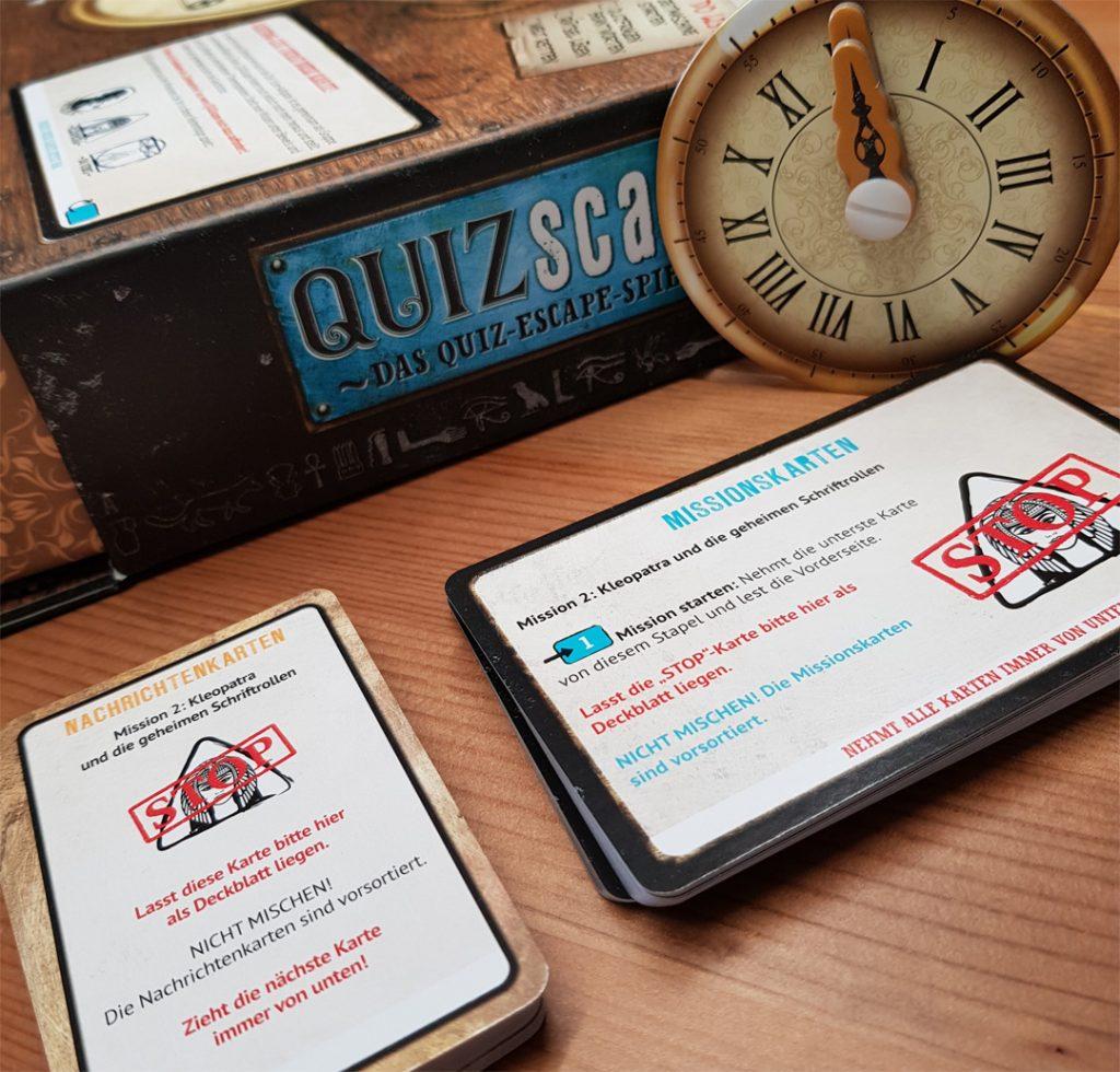 Quizscape Spielmaterial