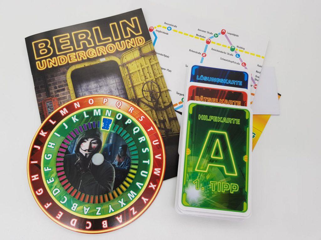 Exit Challenge: Berlin Underground Spielmaterial