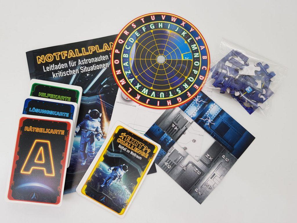 Exit Challenge: Notfall im Weltraum Spielmaterial