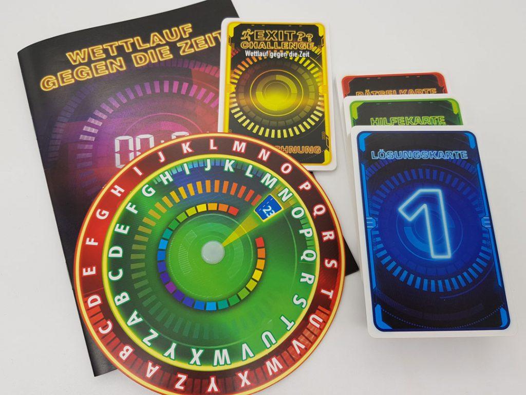 Exit Challenge: Wettlauf gegen die Zeit Spielmaterial