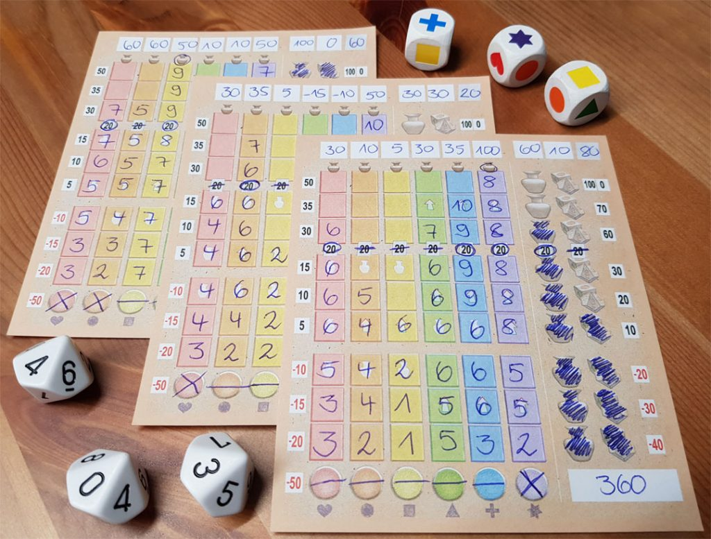 Lost Cities R&W Spielmaterial