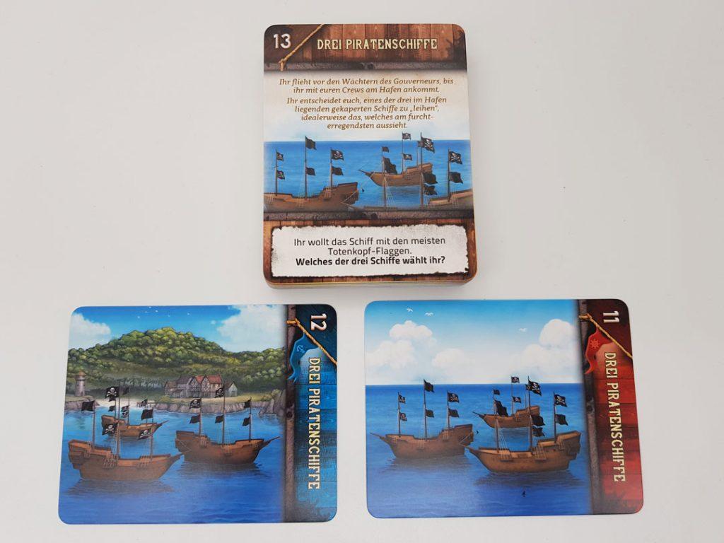 Deckscape - Crew vs. Crew: Die Pirateninsel Spielsituation