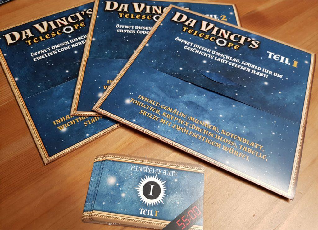 Escape Room- Da Vinci's Telescope Spielmaterial