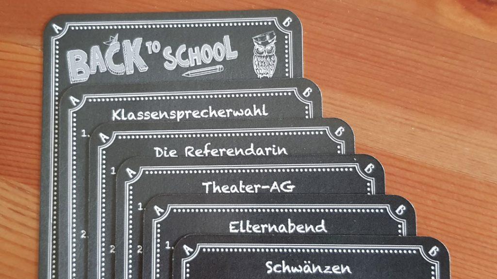 Kneipenquiz - Back to School Karten
