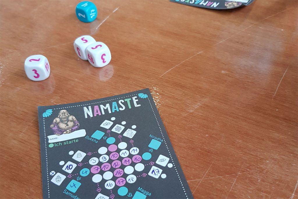 Namaste Spielsituation